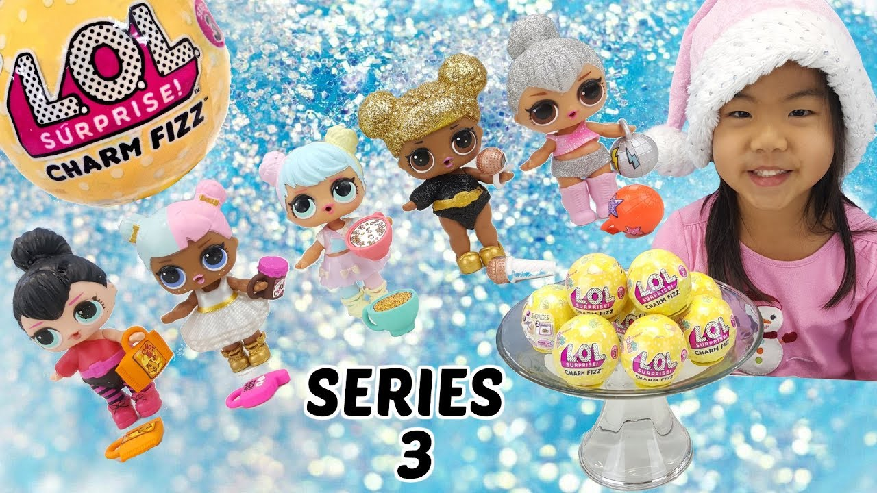 Lol Surprise Series 3 Charm Fizz Bath Bombs Toy Surprises