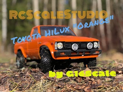 Rc Scale Studio Model 4x4 1:10 Toyota HiLux Tamiya Bruiser Chasis Scale Spring Run
