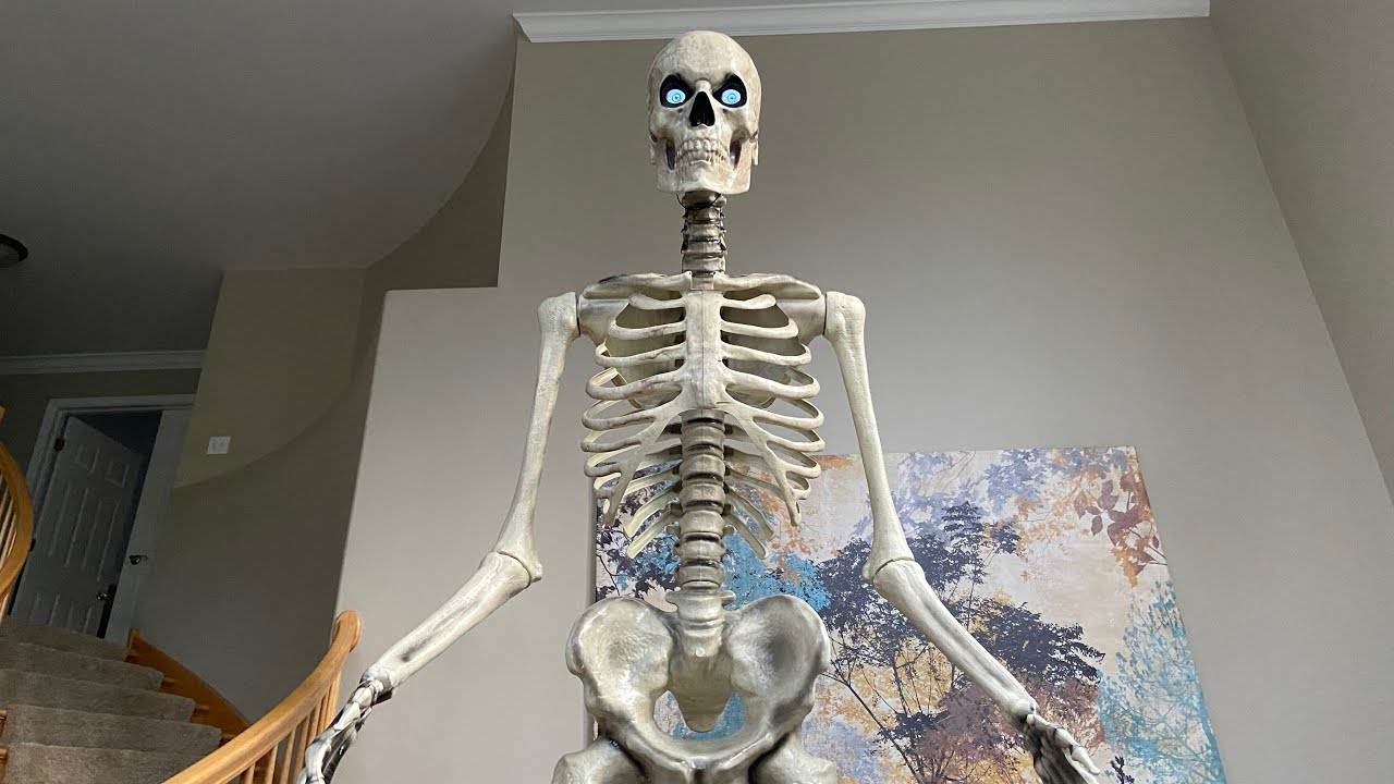 Unboxing Setup Of 12 Ft Skeleton From Home Depot Youtube
