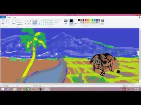Tutorial menggambar dengan Paint di komputer untuk anak-anak TK ...