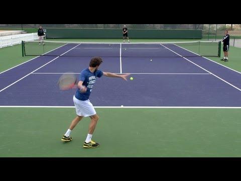 Gilles Simon Forehand and Backhand - Indian Wells 2013 - BNP Paribas Open