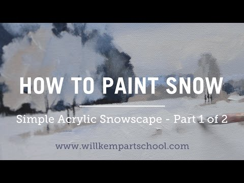 How to Paint an Impressionistic Snow in Acrylics  Part 1 of 2 HD