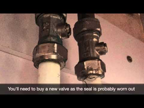 How to fix a leaking bathroom sink isolation valve