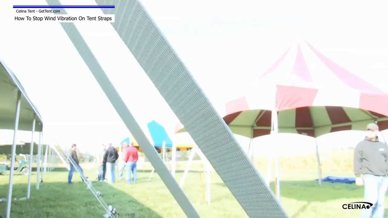 Tie Backs - How To Stop Wind Vibrations On Tent Straps  sc 1 st  YouTube & Tie Backs - How To Stop Wind Vibrations On Tent Straps - YouTube