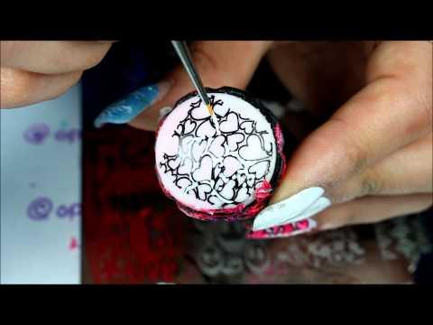 advanced nail stamping  watermarle =  ??????   VDAY NAILS