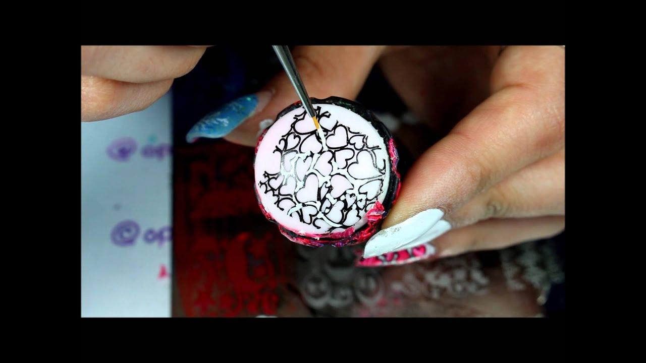 Advanced Nail Stamping Watermarle Vday Nails Youtube