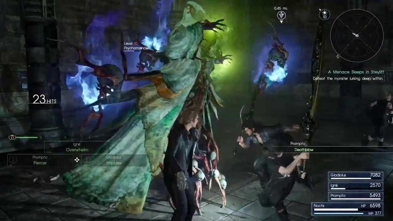 Final Fantasy Xv Menace Sleeps In Steyliff 1st