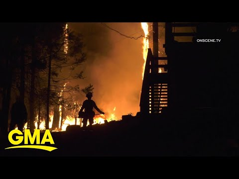 Massive wildfires rage out West l GMA