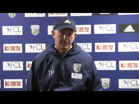 Tony Pulis speaks to the media ahead of the game against Stoke City