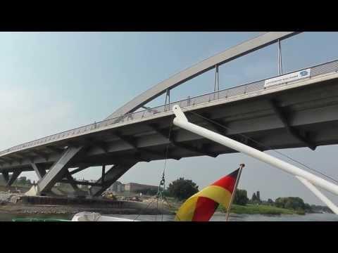 Fahrt durch die Waldschlösschenbrücke Dresden HD