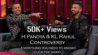 Hardik Pandya and KL Rahul controversy | Koffee with karan | Vijay Shankar S Gill named replacements