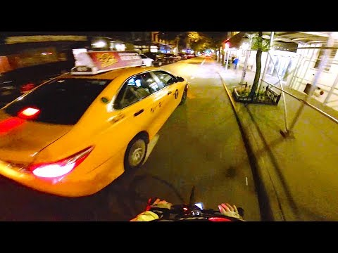 NYC Commute By Bike, Dodging Cabs, Trucks and Pedestrians - C-vlog 42