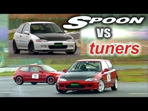 [ENG CC] Spoon vs. tuners - Civic EG6 battle Ebisu HV33