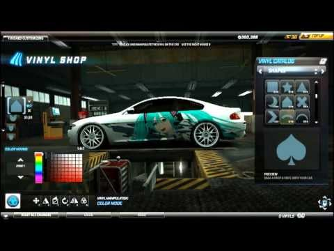 Need For Speed World Anime Art Vinyl Tutorial Bmw M6