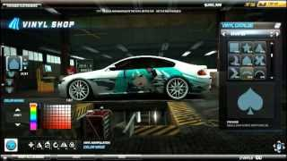 Need for Speed World Anime Art Vinyl tutorial: BMW M6 Coupe, Miku Hatsune Livetune