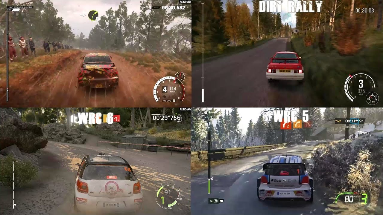 dirt 4 vs dirt rally wrc 6 vs wrc 5 youtube. Black Bedroom Furniture Sets. Home Design Ideas