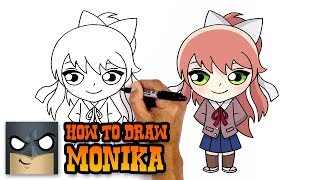 How to Draw Monika | Doki Doki Literature Club (Art Tutorial)