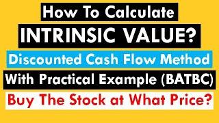 How to Calculate Intrinsic Value of Stocks || DCF Method || Fair Price Calculation || Bangla | BATBC