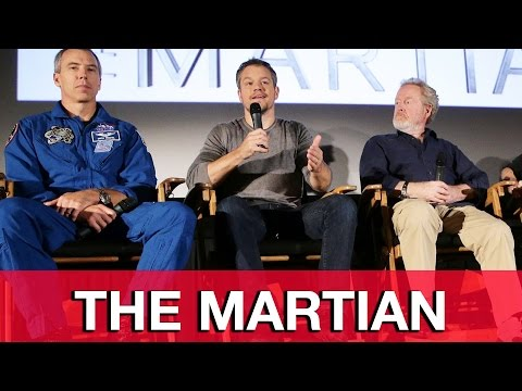 The Martian Q&A Interviews - Matt Damon, Ridley Scott - The Martian Trailer Event