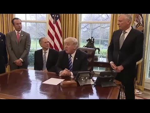 President Trump Meets with Charter CEO Thomas Rutledge and TX Governor Greg Abbott 3/24/17