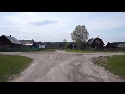 По ул.Центральной.Деревня Алексеевка.