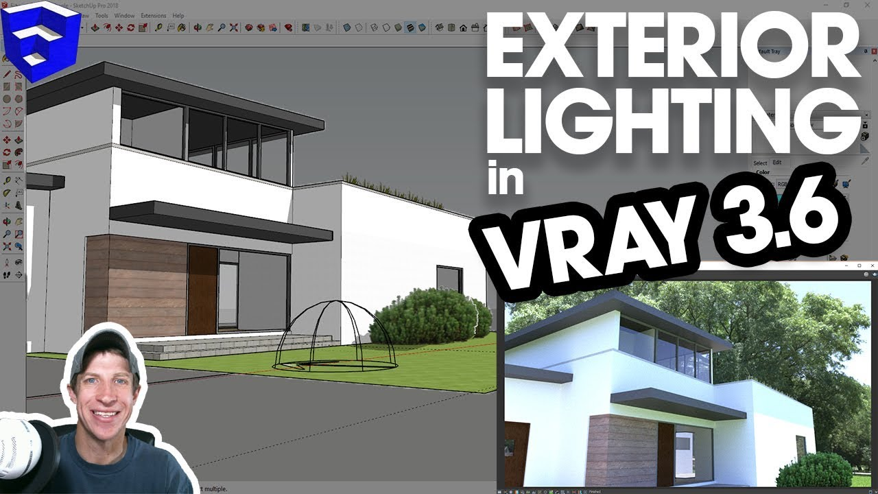 EXTERIOR LIGHTING IN VRAY for SketchUp 3 6 with HDRI, Dome