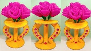 GULDASTA/Guldasta banane ki Vidhi/NEW DESIGN FOAM GULDASTA/WASTE WOOLEN GULDASTA/FOAM ROSE GULDASTA