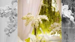 выездная церемония в орхидеях. украшение зала. свадьба в орхидеях