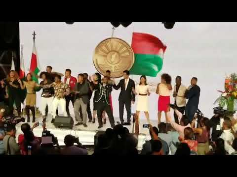 Andry Rajoelina fête sa victoire à la présidentielle Malgache