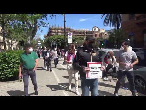 Palermo, la protesta delle partite Iva: 'Siamo al collasso'