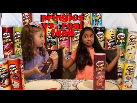 Real Food vs Pringles food challenge