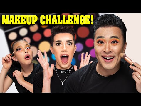 MY DAD THINKS HE&39;S JAMES CHARLES Father VS Daughter Makeup Tutorial Makeover Challenge