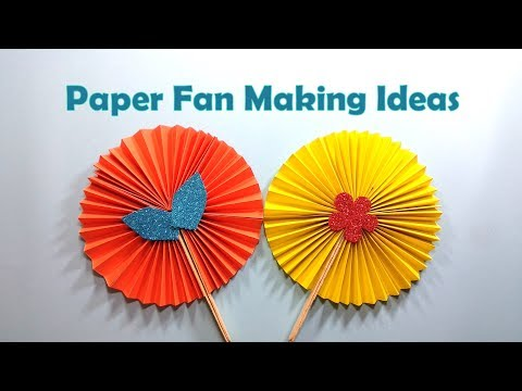 How to Make A Paper Fan Step by Step