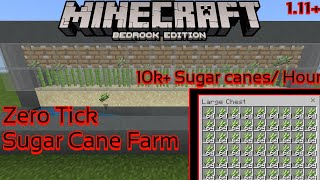 [OUTDATED] Zero Tick Sugar Cane Farm Minecraft:Bedrock [Android/Ios/Win10/Xbox] 10k+/Hour for v 1.12