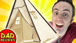 KIDS TEEPEE TENT | Lavievert Indian Canvas Teepee Unboxing & First Look Review