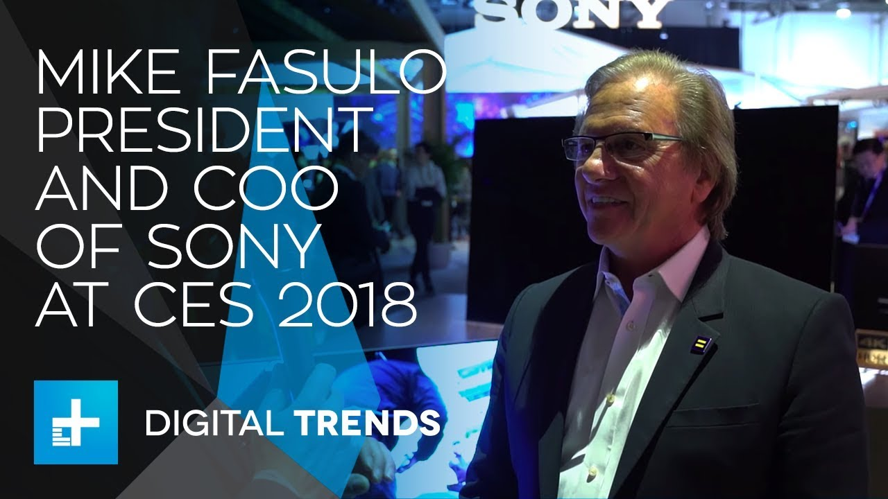 Mike Fasulo President and COO of Sony – Interview at CES 2018