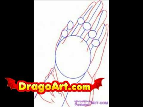 How to draw praying hands, step by step - YouTube