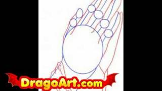 How to draw praying hands, step by step