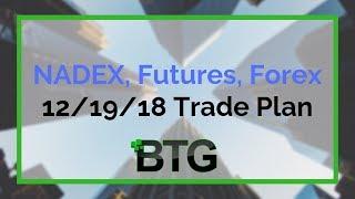 BTG 12/19/18 Trade Plan - NADEX, Futures, Forex