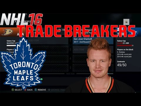 Trade Breakers: NHL 16 Trade Simulation. Andersen To The Leafs