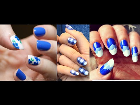 3 Easy Blue Nail Art Designs Tutorial Video Youtube