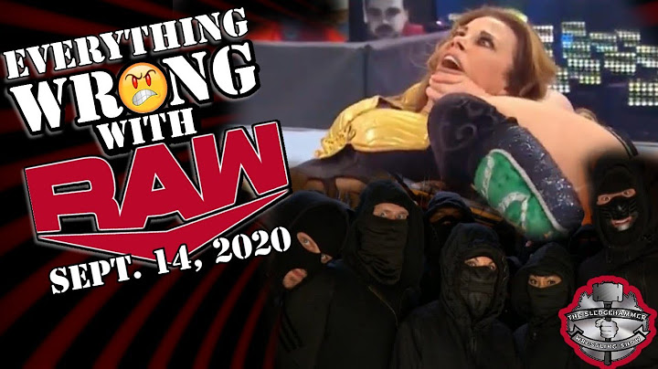 wwe raw 91420 full show results  raw 14 september 2020 highlights  wwe raw sept 14 2020 review