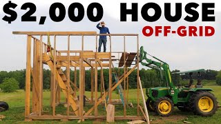"""$2,000 HOUSE - """"FREE"""" OAK LUMBER for LOFT FLOOR - Cabin - Ep. 4"""