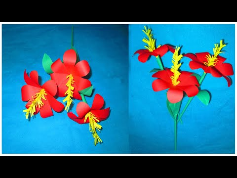5 Minute you make flower  with paper | Paper Craft | DIY Home Decor