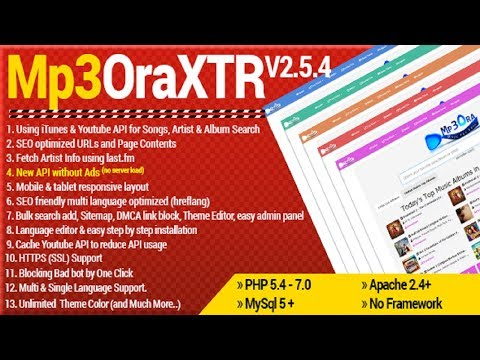 Mp3OraXtr v2.5.4 - PHP Mp3 Search Engine