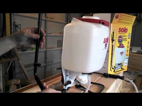 Solo Diaphragm Pump Backpack Sprayer Model 475-101 Assembly - YouTube