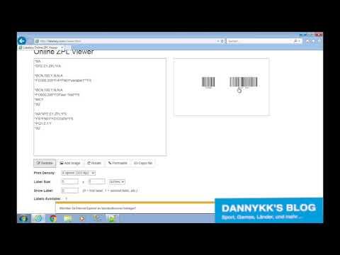3# ZPL Tutorial 128 Bar Code (Subsets A, B und C)