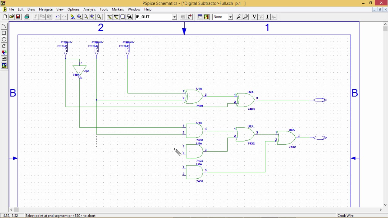 logic diagram for full subtractor [ 1280 x 720 Pixel ]