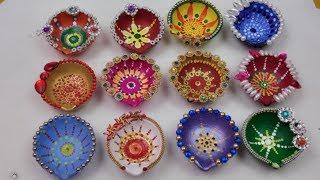 Diya Decoration ideas for Diwali,Beautiful Diwali Decorations,DIY- How to Diya Decoration at Home