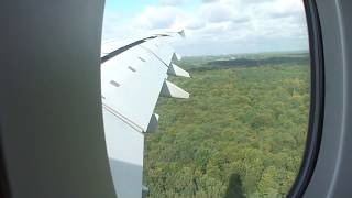 Airbus A380 strong crosswind landing at Düsseldorf filmed from inside - HD